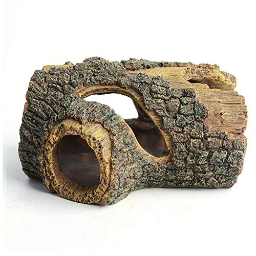 Shiwen Fish tank landscaping decoration resin ornaments fish and shrimp hiding house spawning cave hollow wine barrel wooden barrel tree hole