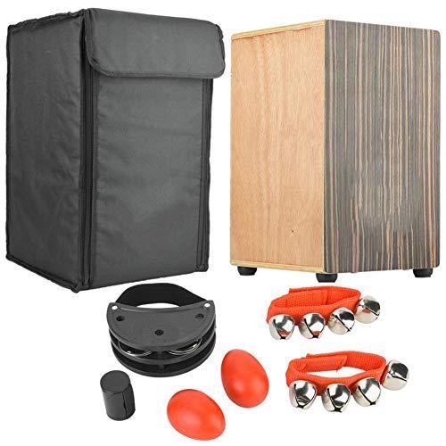 MROSW Professionelle Cajón Cahon Drum Set Schwarz Sandelholz-Panel Cajon Drum Hand Holzkiste Drum Mit Oguman Holz