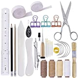 BUTUZE 32 Pieces Hand Bookbinding Tools, Bookbinding Kit for Beginners,Complete Bookbinding Tool Kit with...