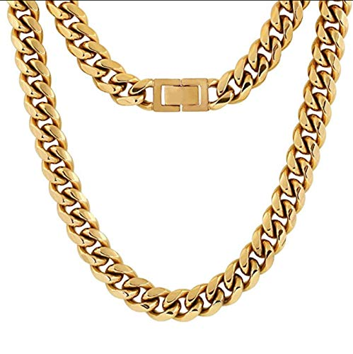 United Se7en Virtue — an Authentic Miami Cuban Link Chain, Vintage Gold, 12mm, 28in
