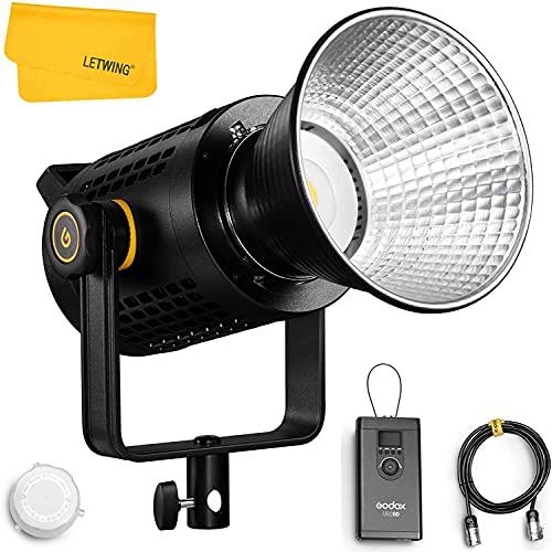 Godox UL60 60W Leises LED-Videolicht mit Tageslichtbalance, CRI ≥ 96 TLCI ≥ 97, Farbtemperatur 5600 K ± 300 K für Interviewaufnahmen, Online-Streaming, Rundfunk, Kinematographie