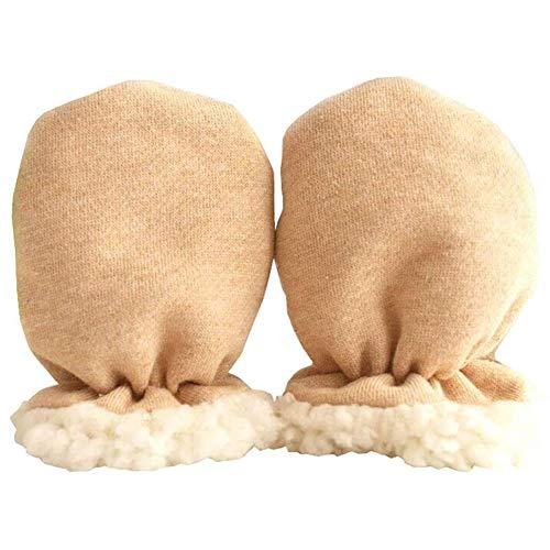 BETOY Guantes de algodón para bebés recién nacidos Sin mitones de Scratch,Manoplas de Bebé Guantes Calientes Mitones Invierno de Bebés Niños Niñas Manoplas del Interior Lana Recién Nacido Infantil