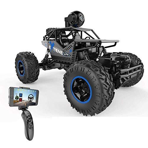 ADLIN Equipado de control remoto coche con la cámara de alta definición de alta velocidad Off Road 4Wd vehículo del terreno Rc Buggy coche camión for niños y adultos, la deriva coche teledirigido, niñ