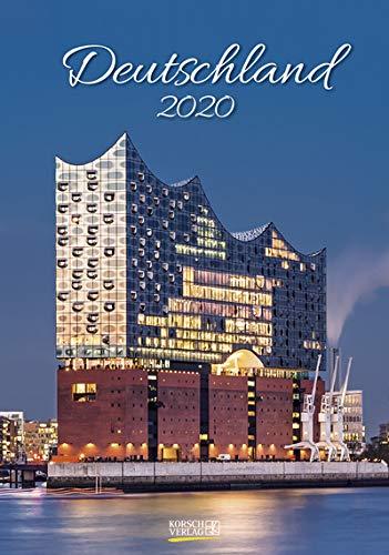 Deutschland - Kalender 2020 - Korsch-Verlag - Wandkalender 23,5 cm x 33,5 cm