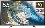 ピクセラ VPシリーズ 55V型 4Kチューナー内蔵液晶テレビ 4K Smart TV PIX-55VP100 外付HDD裏番組録画対応 Amazon Echo、Google Home対応
