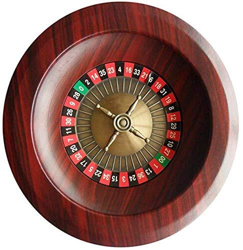 Aitry 12-Zoll-Spieltisch, luxuriöser Holz-Roulette-Radsatz der Casino-Klasse, Unterhaltungs- und Unterhaltungsprodukte für Erwachsene, Roulettetisch