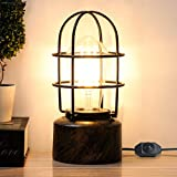 Yueximei Vintage Desk Lamp Small Industrial Light, Dimmer Switch Table Lamp ,Steampunk Accent Light Edison Lamp,with E26 Edison Base Decoration for Bedroom Living Room(No Bulb Included)
