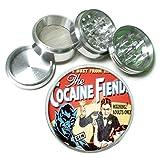 cocaine grinder - Cocaine Fiends Vintage 4Pc Aluminum Tobacco Spice Herb Grinder