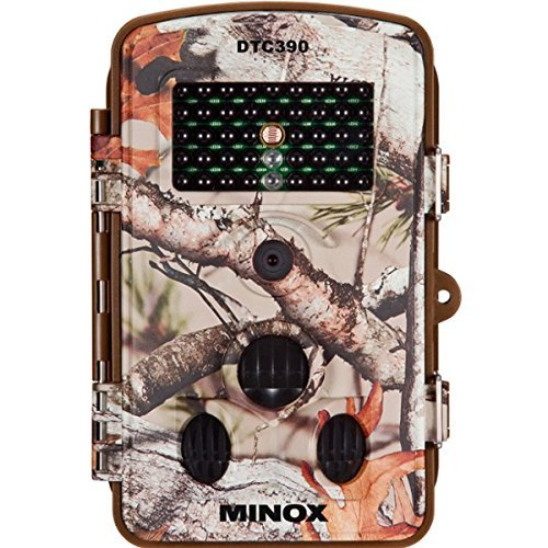 MINOX DTC 390 Compact Wildlife Camera - Weatherproof - Surveillance Camera with 2.4' TFT Color Monitor and HD Video Resolution.
