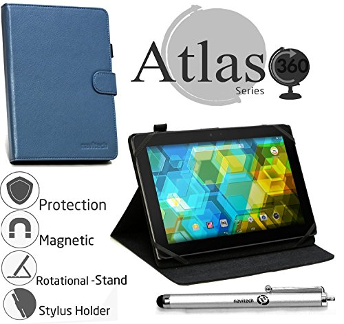 Navitech Custodia in pelle blu con stilo per Artizlee Tablette Tactile 3G ATL-21 10,1