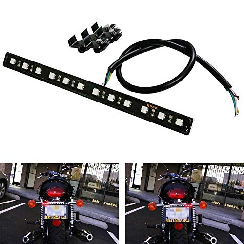 iJDMTOY (1) Brilliant Red Universal 12-SMD LED Aluminum Bar Compatible With Motorcycle Bike ATV Car RV SUV, etc On Brake Tail Light & Left/Right Turn Signal Lamp