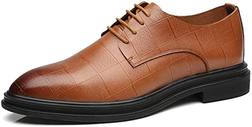FuWeißncore Herren Lederschuhe, Frühling Herbst Lace up Spitzschuh Schuhe, Formale Business-Schuh, Klassische Kleid Schuhe, Hochzeit Casual Party (Farbe   Braun, Größe   EU 40)