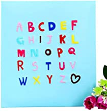 Adhesive Photo Albums, Self-Adhesive Photo Albums, Insert Creative English Alphabets Child Growth Album, 160 Photos -7 '' (7 × 5 '' Photos) Photos Tourism Love