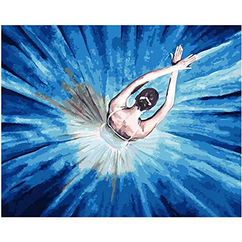 Jkykpp Painting by Nummers Dropshipping 40x50 50x65cm mooi ballerina meisje figuur canvas bruiloft decoratie kunst picture Gift