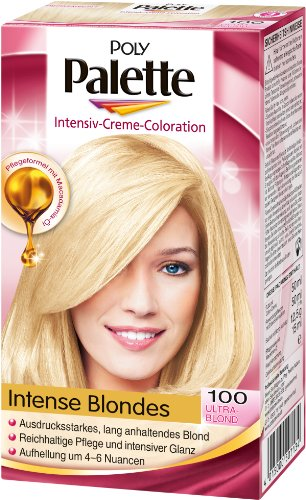 Poly Palette Intensiv-Creme-Coloration 100 Ultrablond Stufe 3, 3er Pack (3 x 1 Stück)