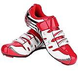 1 Paire Chaussures de Vélo de Route de Montagne Chaussures de Cyclisme Anti-dérapantes SPD System Lock Hommes Adultes(40-Rouge)