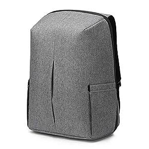 512uYTZ9ISL. SS300  - Antirrobo Mochila Seguridad Impermeable con Bloqueo Mochila Hombre Portátil 15,6 Pulgadas con Puerto de USB Mochila de Viaje del Trabajo Viaje Negocio Multifuncional Daypack,Gris