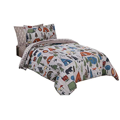 Mainstays Kids Camping Bed in a Bag Bedding Set 5PC Twin