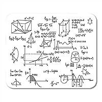マウスパッド数学ジオメトリフォーミュラ科学知識教育グラフスケッチラップトップ用デスクトップマウスパッド、デスクトップコンピューターアクセサリーミニオフィス用品マウスマット