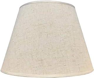 Uniquk Lampe de Table Abat-Jour Accessoires E27 Lin Lampe de Chevet Applique Murale Lampadaire Abat-Jour Tissu DiamèTre In...