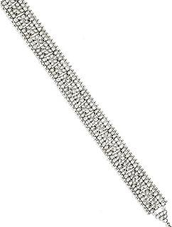 Peora Traditional Jewellery 18K Gold Plated Kundan Silver White Waist Belt Kamarband Belly Chain for Women Girls