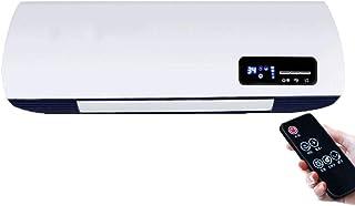 WLJQNQ Calentador eléctrico, 2300W Material ignífugo PTC Calefacción y Ajuste del termostato Radiador eléctrico Caliente y frío montado en la Pared (Color : A)