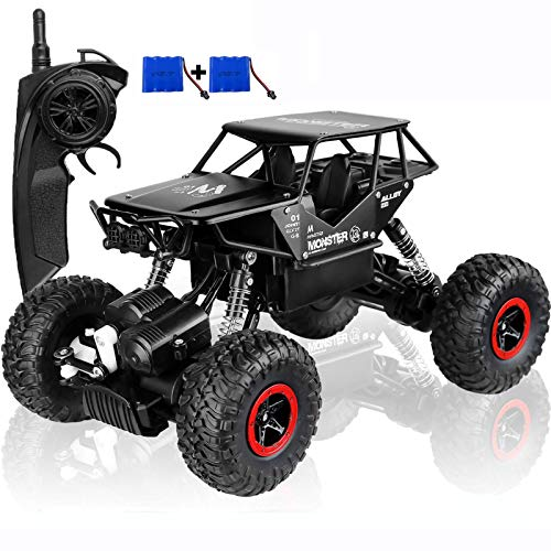 SZJJX RC Cars Off-Road Rock Vehicle Crawler Truck 2.4Ghz 4WD 1:14 Radio Remote Control Racing Cars Electric Fast Race Buggy Hobby Car Toy For Kids (Negro)