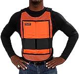 Glacier Tek Classic Cool Vest with Set of 8 Nontoxic Cooling Packs Orange