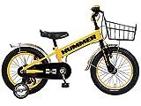 HUMMER(ハマー) KID'S16 TANK3.0-SE イエロー 16インチ 子供自転車 安定の良い極太タイヤ装着(16×3.0インチ) ステンレスフェンダー/ワイヤーバスケット標準装備 フルカバーチェーンケース 迫力満点キッズバイク 13377-0799