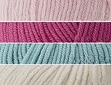 Kokobino Knit Your Own Strickset für Babybett, Himbeere Rüschen, 12-48 Monate