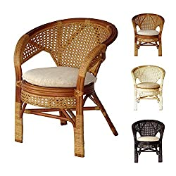 Pelangi Handmade Rattan Dining Wicker Chair W/cushion