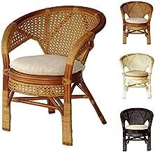 Pelangi Handmade Rattan Dining Wicker Chair W/Cushion, Colonial