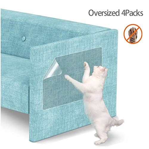 Oversized 6 Packs Cat Scratch Pad met pinnen, zelfklevende Protect Pads Sticker, Cat Anti Scratch Guards, Stopt Scratching Cats Furniture Defender, 4 stuks.