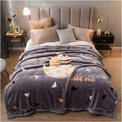 LJHSS Flauschige Bettdecke, Ganzjahres-Flanelldecke Für Das Bett Weiche, Weiche, Flauschige, Warme Reisedecke Aus Mikrofleece, Decken Für Sofabetten (Color : D4, Size : 150x200cm)