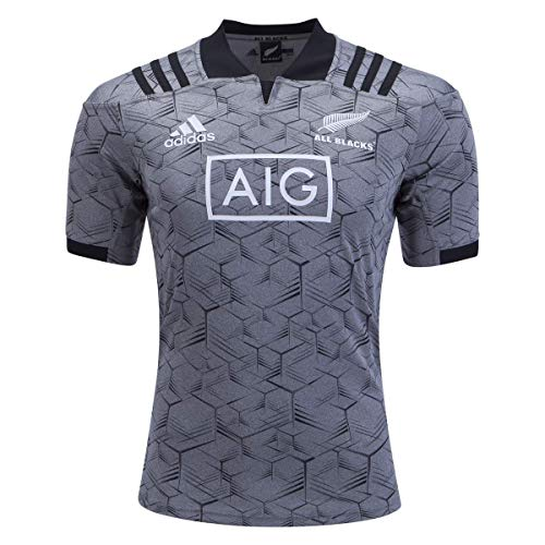 adidas All Blacks Training Rugby Jersey, Grey, Medium