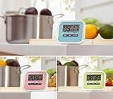 Domire - Orologio da cucina digitale LCD, con conto alla rovescia, colore: Rosa