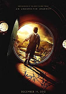 Hobbit Unexpected Journey Signed Poster UACC RD AFTAL