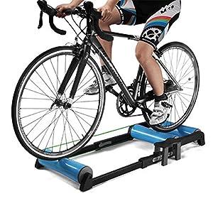 Entrenador rodillos bicicleta interior ajustable - Pedal antideslizante Fácil de transportar Silencioso poco ruido - para entrenamiento bicicleta de interior / bicicleta de montaña de 24-29 pulgadas