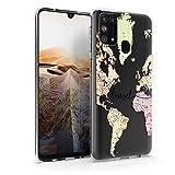 kwmobile Hülle kompatibel mit Samsung Galaxy M31 - Handyhülle - Handy Hülle Travel Schriftzug Schwarz Mehrfarbig Transparent