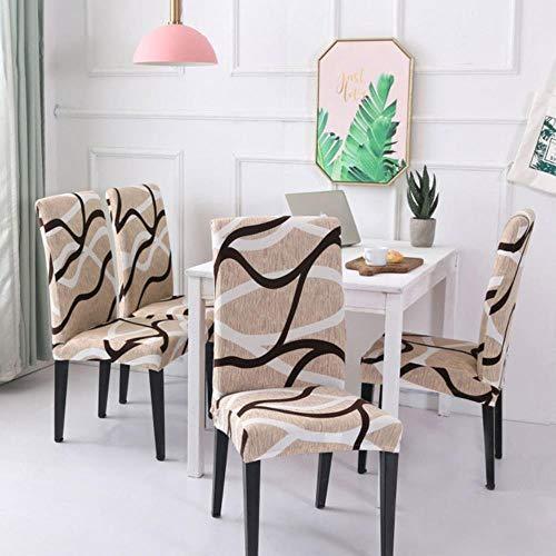 LLAAIT 4/5/6 Pezzi Coprisedie Coprisedili per sedie a Buon Mercato Elasticizzati a Buon Mercato...