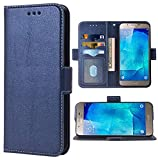 Phone Case for Samsung Galaxy A8 Folio Flip Wallet Case,PU Leather Credit Card Holder Slots Heavy Duty Full Body Protection Kickstand Protective Phone Cover for GalaxyA800 A 8 2015 Men Dark Blue