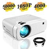 Elephas Mini Proiettore Portatile 4000 Lumen, Videoproiettore Full HD 1080P, Videoproiettore LED con...
