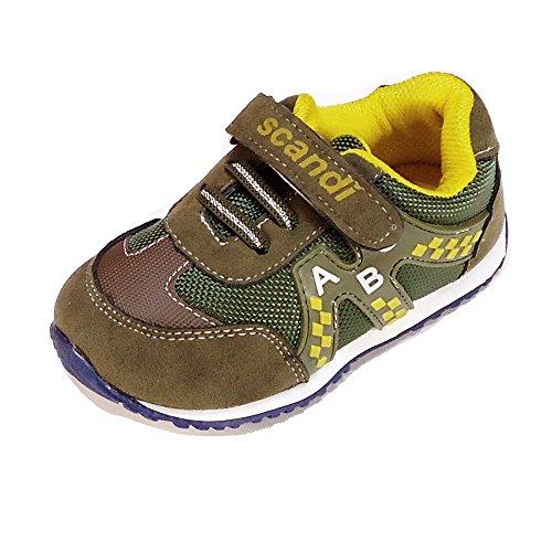Magnus Kinder Schuhe Baby Sportschuhe (121A) Halbschuhe Kinderschuhe Jungen,Mädchen Schuhe Neu Größe 21, Farbe Khaki