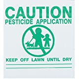 """25x GEMPLER'S ME5X5PK Maine Pesticide Application Signs – Durable Weatherproof Outdoor Screen-Printed Corrugated Plastic Board Legends Plus 16"""" PVC Sign Holders – USA Made"""