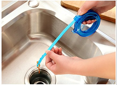 Sink Cleaning Tool - 1 Piece Home Cleaning Brushes Tools Accessories Drain Sink Cleaner Bathroom Unclog Sink Tub Snake Brush Hair Removal Cleaner Tool
