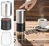 Rosenstein & Söhne 12V Kaffeemaschine: Elektrische Akku-Kaffeemühle mit Keramik-Mahlwerk, USB Ladebuchse (Coffee Grinder)