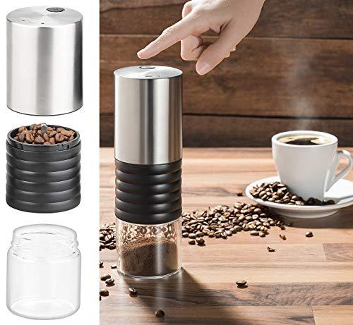 Rosenstein & Söhne Espressomühle: Elektrische Akku-Kaffeemühle mit Keramik-Mahlwerk, USB Ladebuchse (Kaffeemuehlen)