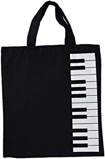 Music Score Bag, Cotton Handbag Cotton and Linen Music Bag Keyboard Pattern Musical Bags Musical Instruments Bag