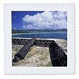 3dRose QS 72252_ 1Karibik, St. Lucia, Taube Point. Fort
