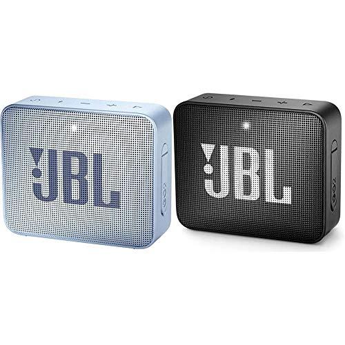 JBL GO2 - Waterproof Ultra Portable Bluetooth Speaker - Gray & GO2 - Waterproof Ultra Portable Bluetooth Speaker - Black